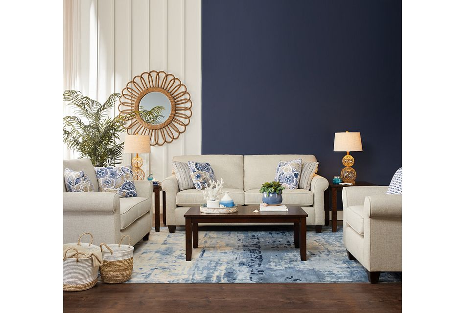 Cameron Beige Fabric Living Room