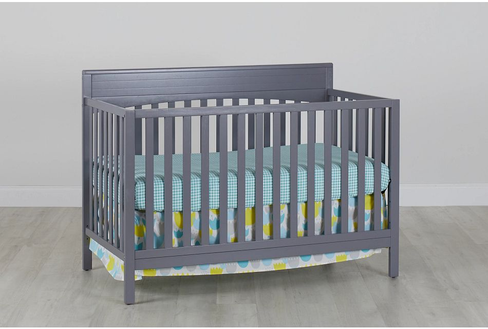 Parker Gray 4-In-1 Crib, %%bed_Size%% (0)