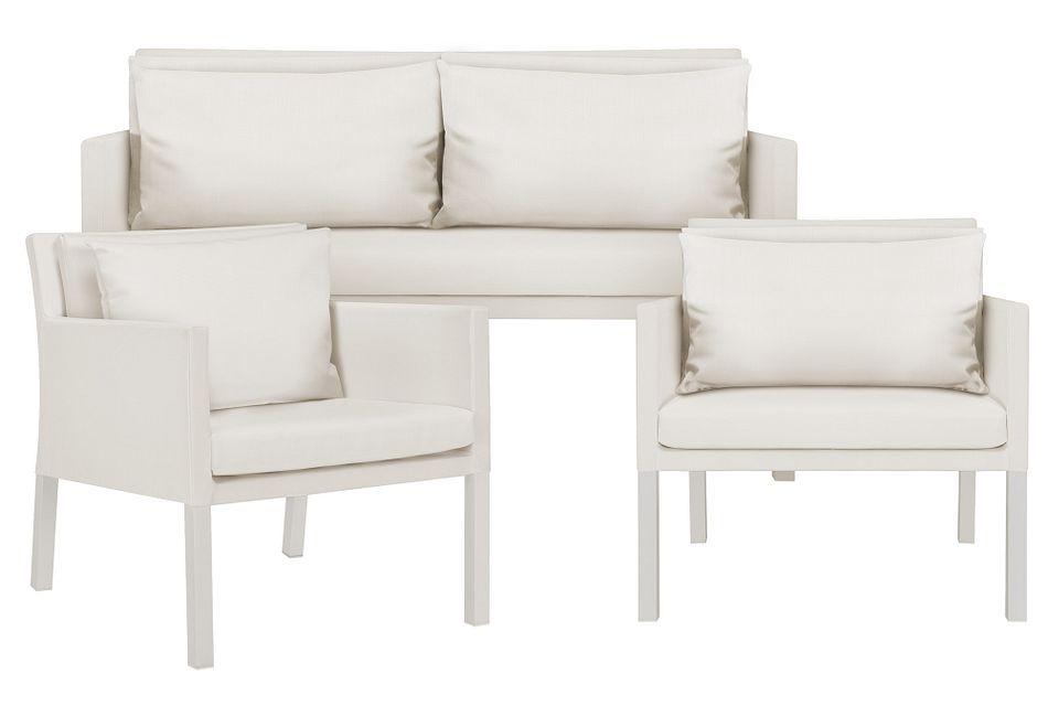 Lisbon2 White Outdoor Living Room Set
