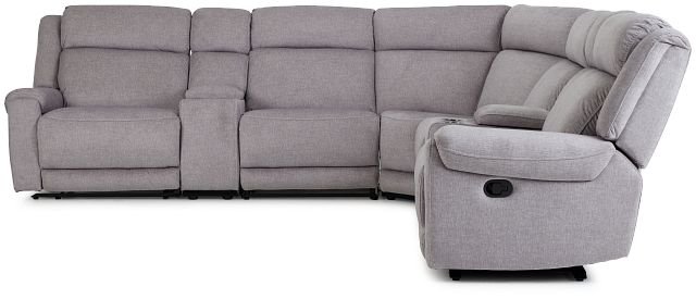 Beckett Gray Micro Large Dual Manually Reclining Two-arm Sectional (3)