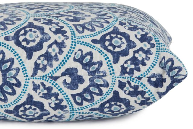"""Tomini Blue Fabric 18"""" Accent Pillow"""