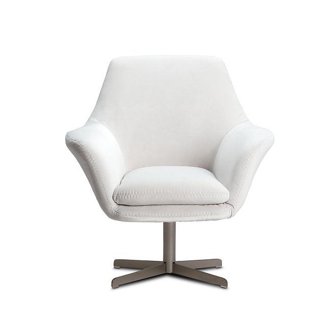 Xander Pewter Velvet Swivel Accent Chair (3)