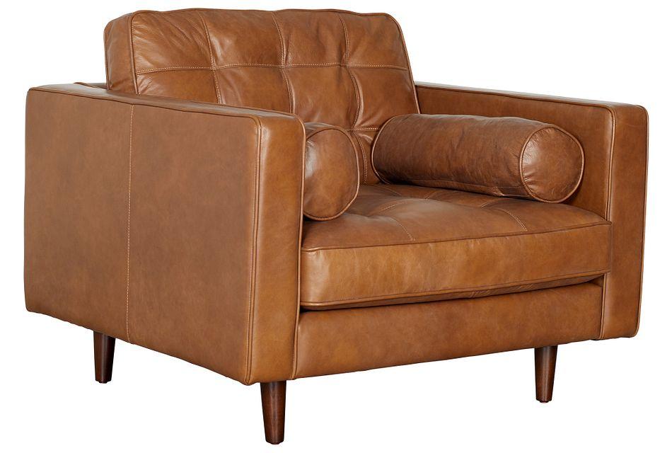 Encino Medium Brown Leather Chair