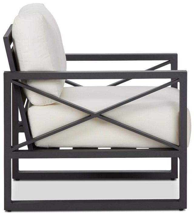 Linear Dark Gray White Aluminum Chair (1)
