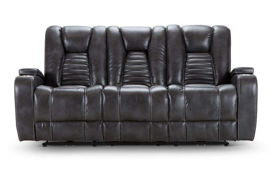 Nexus Gray Micro Power Reclining Sofa, %%bed_Size%% (1)