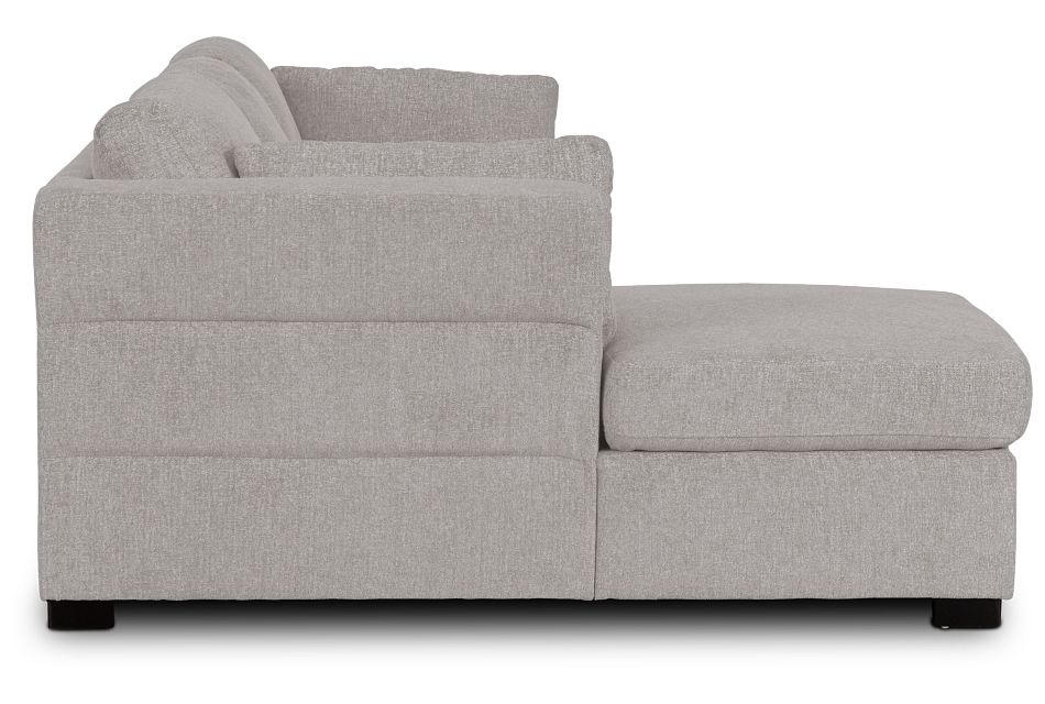 Amber Light Gray Fabric Small Left Chaise Sleeper Sectional,  (2)