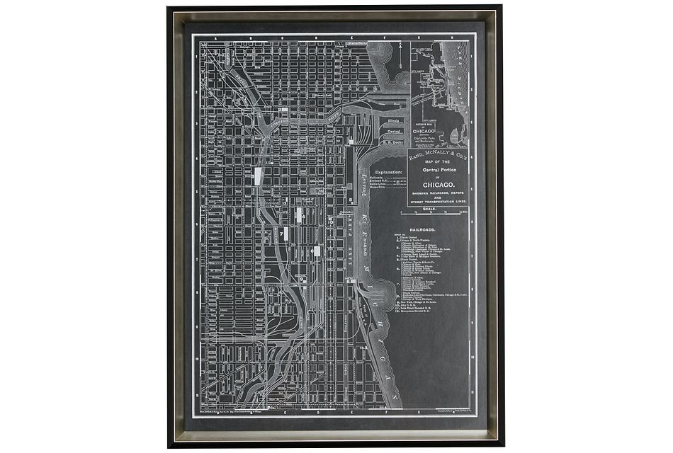 Chicago Black Framed Wall Art