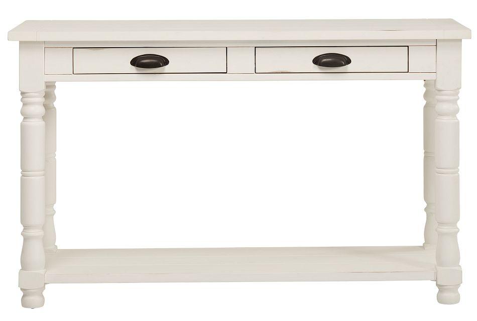 Bobbin White Sofa Table