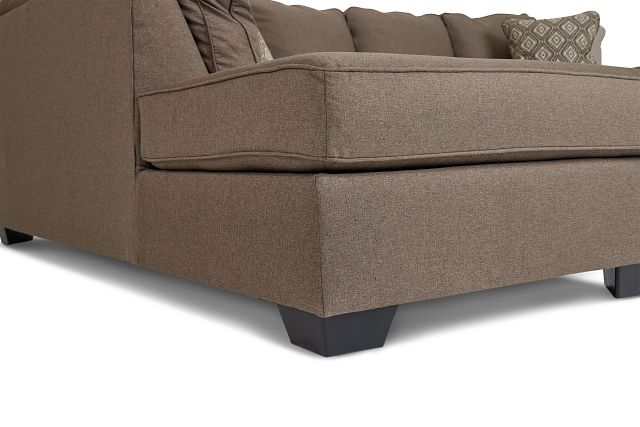 Calicho Dark Taupe Micro Left Chaise Sectional