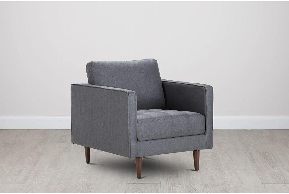 Rue Gray Fabric Chair,  (0)