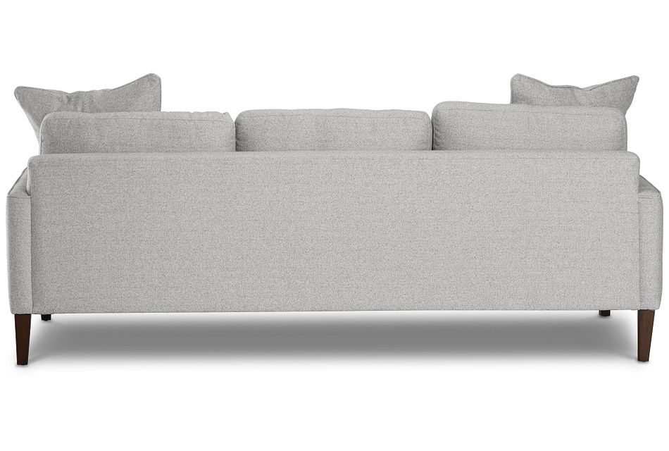 Morgan Light Gray Fabric Sofa With Wood Legs