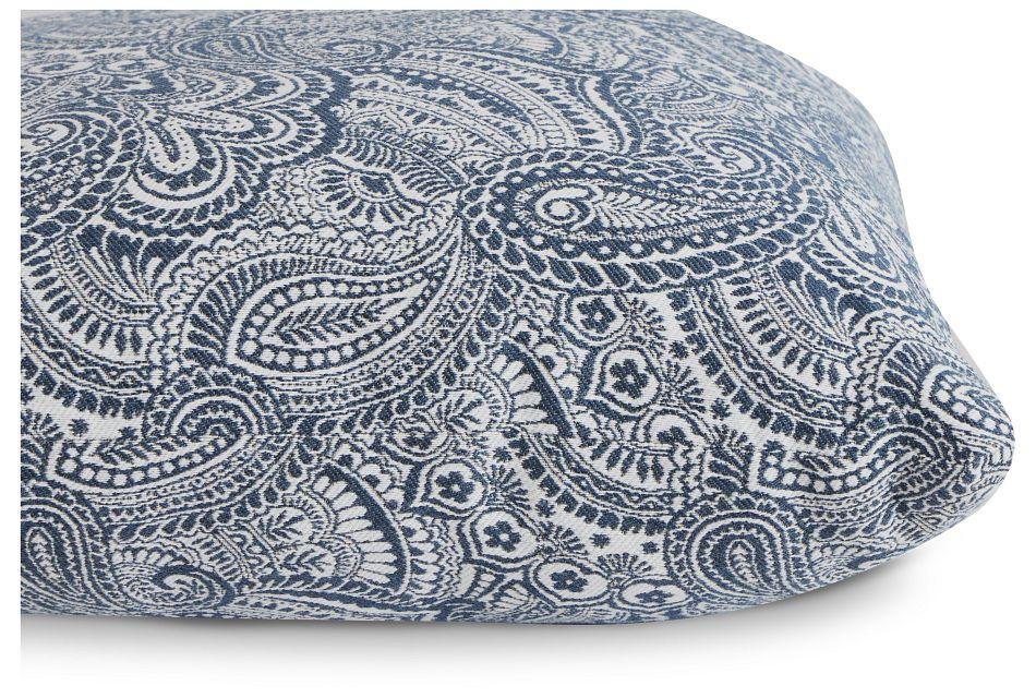 "Venezia Dark Blue Fabric 18"" Accent Pillow,  (2)"