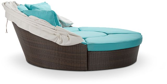 Fina Dark Teal Canopy Daybed (1)