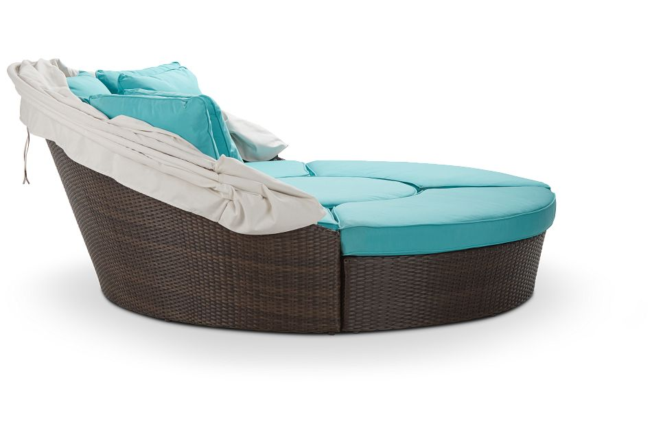 Fina Dark Teal Canopy Daybed