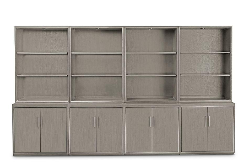 Highline Gray Door Bookcase Wall
