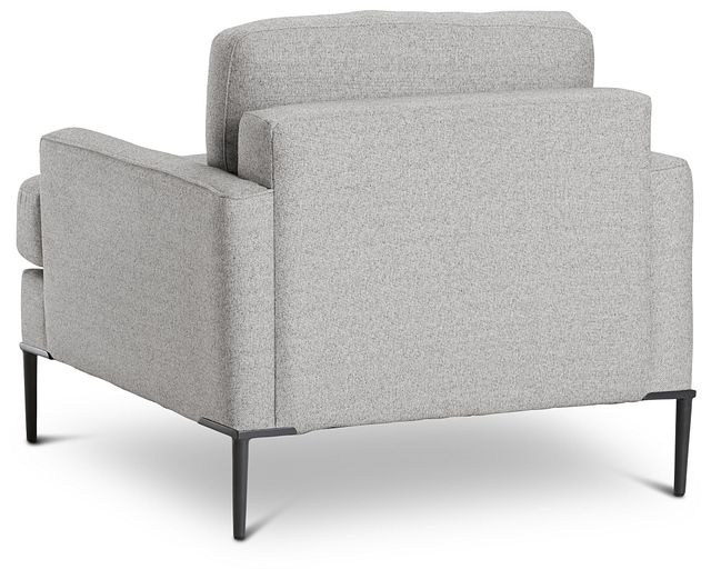 Morgan Light Gray Fabric Chair With Metal Legs