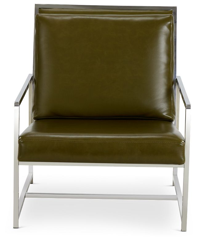 Harvey Green Uph Accent Chair (3)