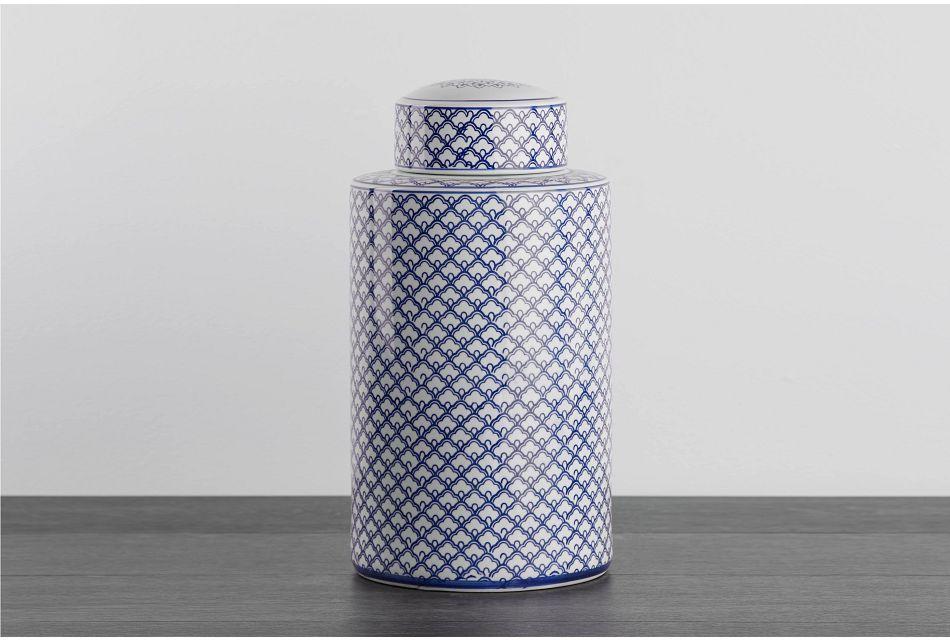 Jade Blue Large Jar