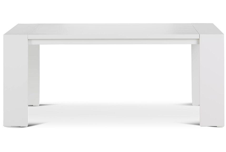 """Linear White 70"""" Rectangular Table"""