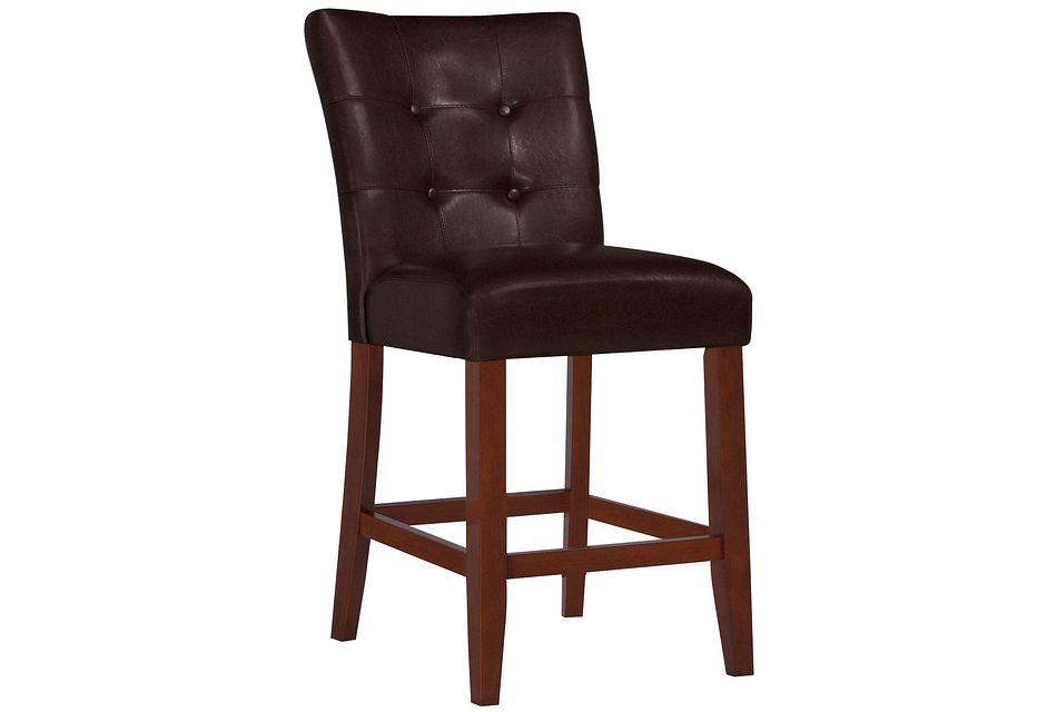 """City Lights Dark Brown 24"""" Upholstered Barstool"""