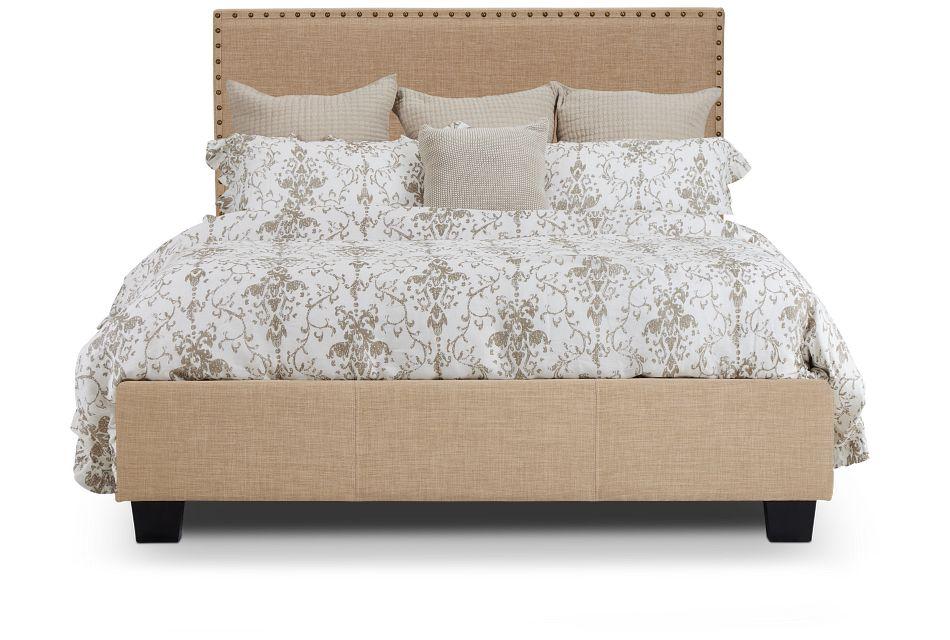 Holden Taupe Uph Platform Bed, Queen (3)