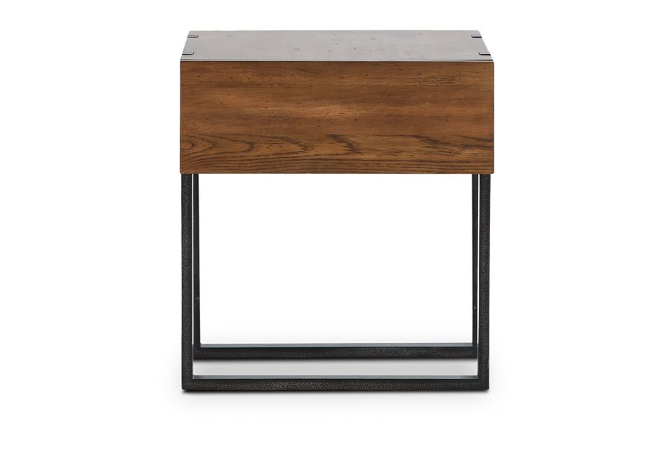 Prescott Mid Tone Rectangular End Table