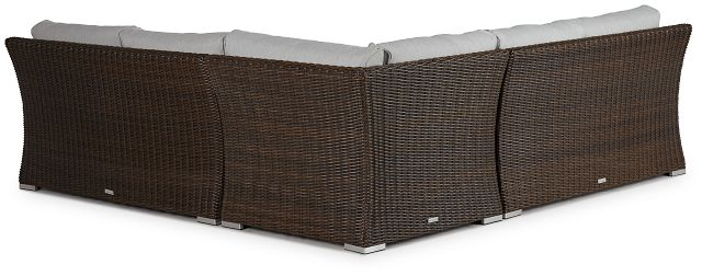 Southport Gray Woven Small Two-arm Sectional (2)
