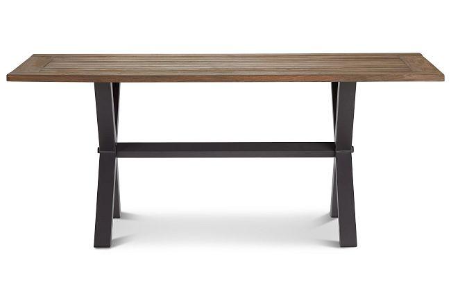 "Canyon Dark Tone 72"" Rectangular Table"