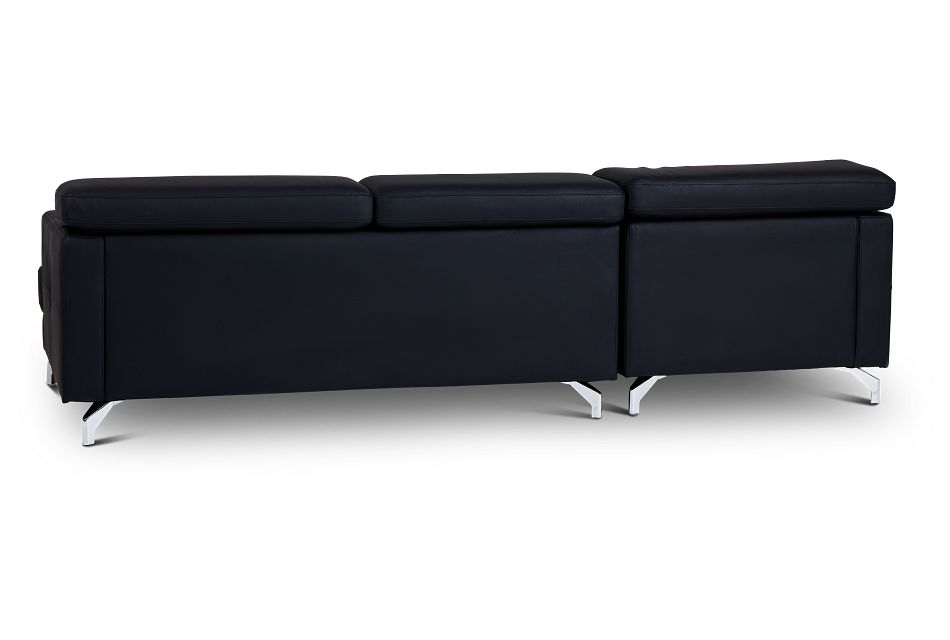 Marquez Black Micro Left Chaise Sectional