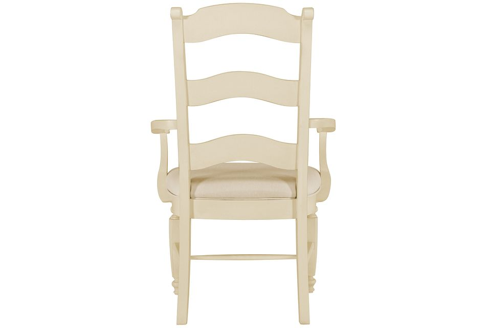 Claire Ivory Wood Arm Chair