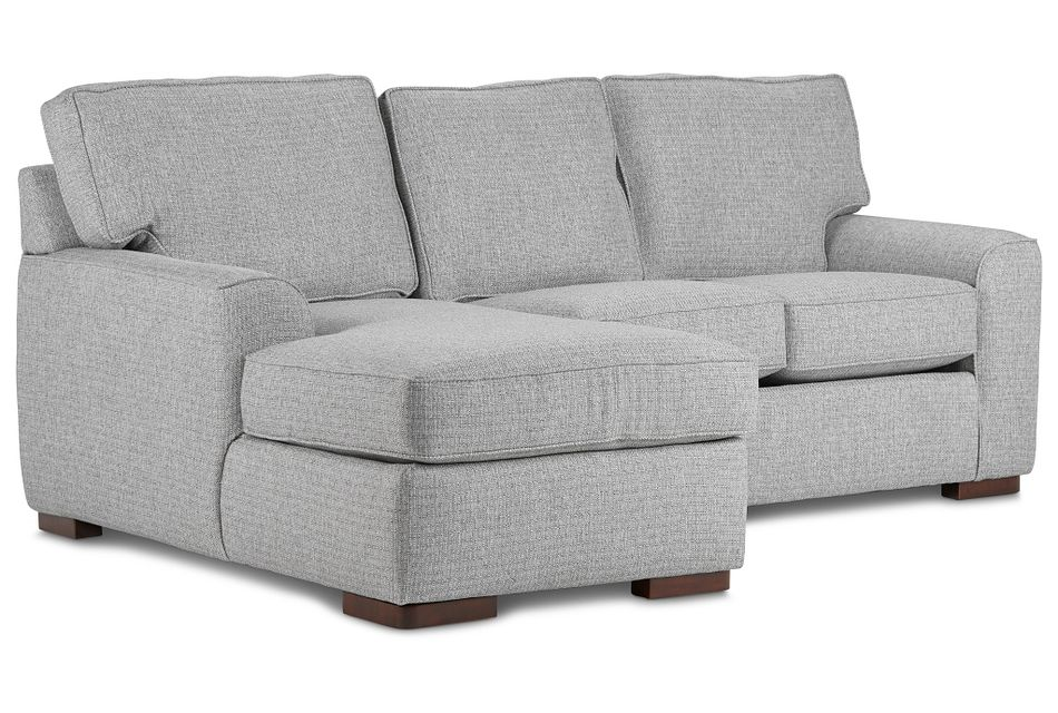 Austin Gray Fabric Left Chaise Sectional