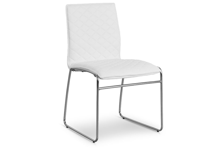 Skyline White Metal Side Chair,  (1)