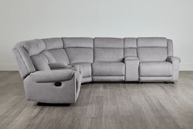 Beckett Gray Micro Large Dual Manually Reclining Two-arm Sectional (0)