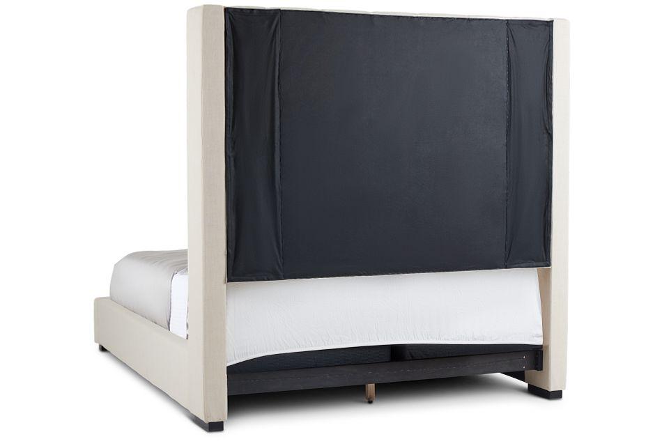 Lacey Beige Uph Platform Bed