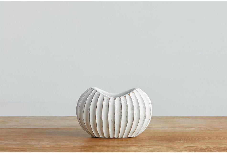 Bee White Vase