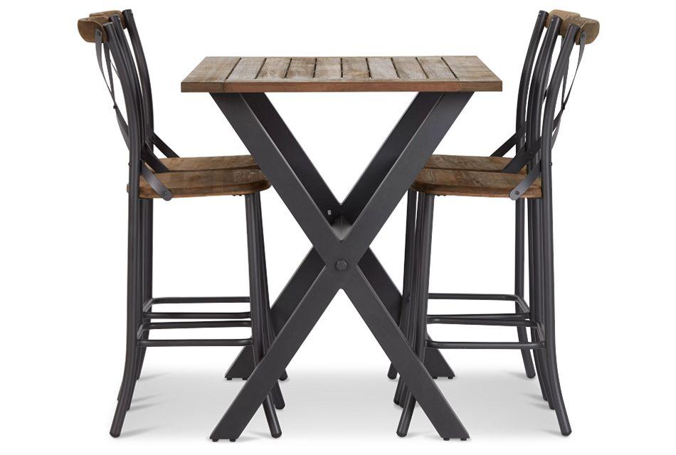 "Canyon Dark Tone 54"" Pub Table & 4 Barstools,  (2)"