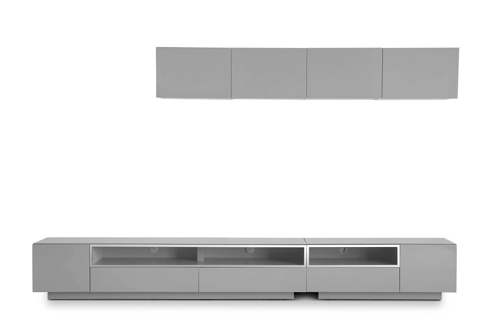 "Vancouver Gray 134"" 6-piece Right Modular Entertainment Wall"