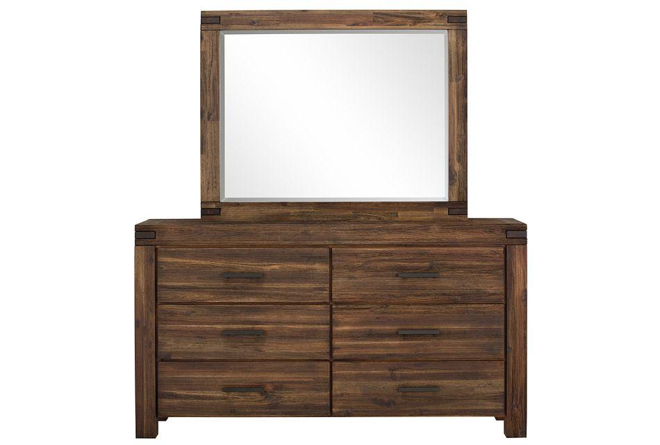 Holden Mid Tone  Dresser & Mirror,  (0)