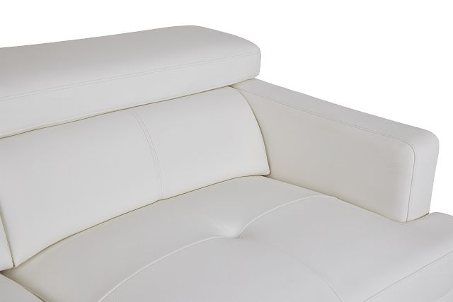 Marquez White Micro Left Chaise Sectional