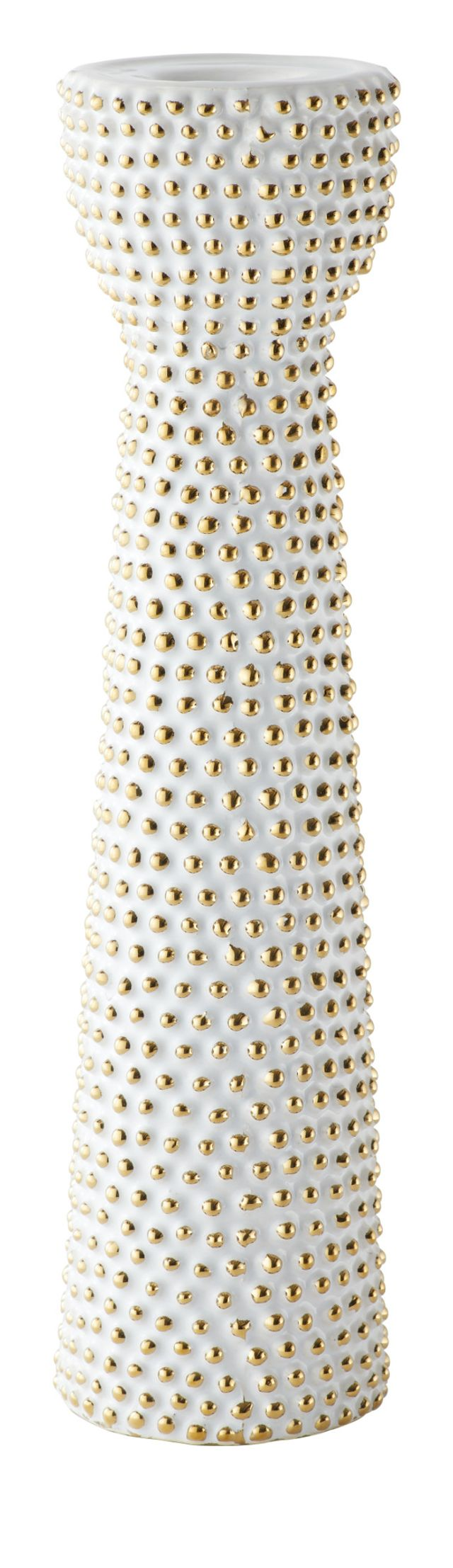 Daisy White Large Candle Holder (1)