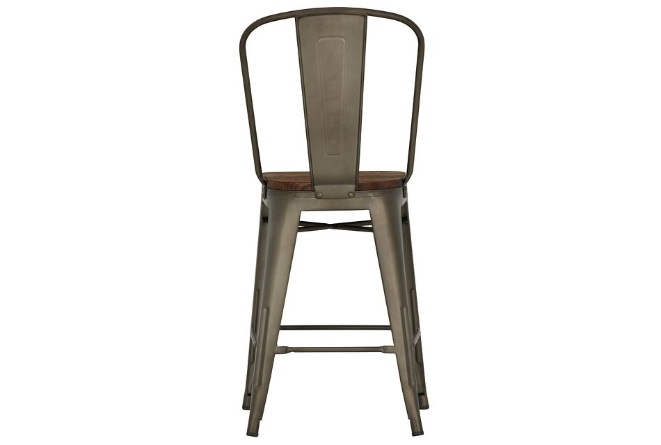 """Huntley Dark Tone 24"""" Wood Barstool"""