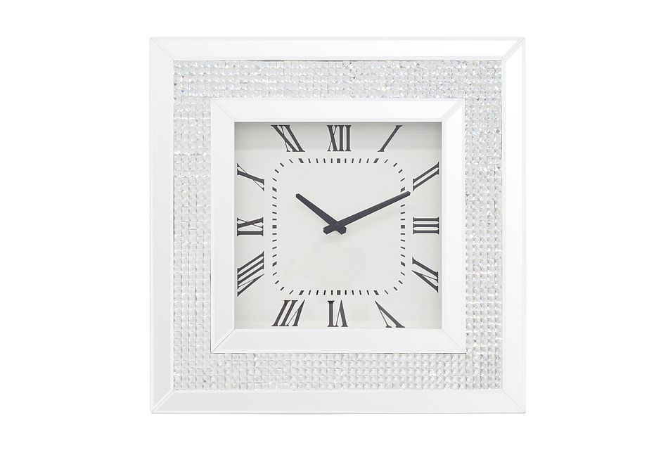 Elie Silver Mirrored Wall Clock