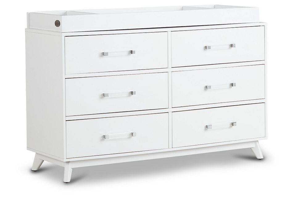 Kayson White Dresser With Changing Top