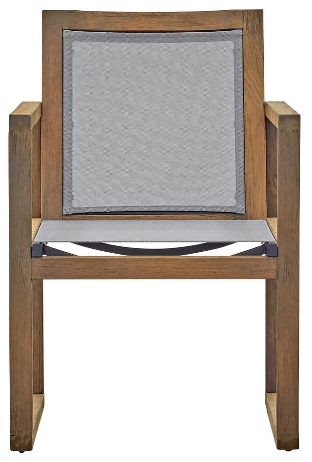 Linear Teak Sling Arm Chair (1)