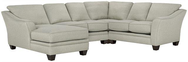 Avery Light Green Fabric Medium Left Chaise Sectional (0)