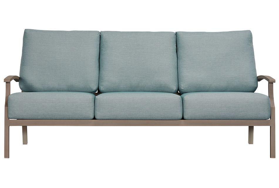 Raleigh Teal Aluminum Sofa