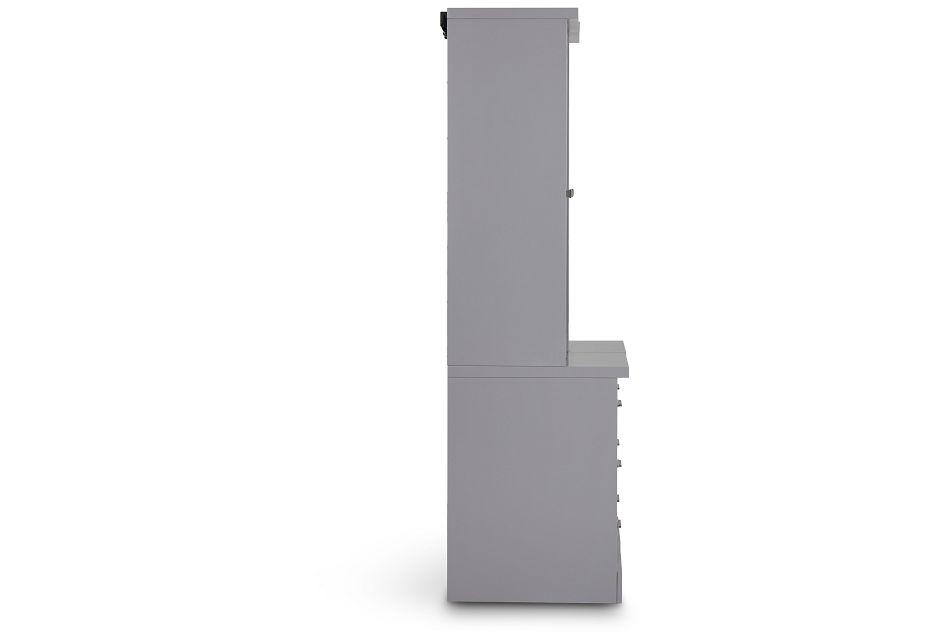 Newport Gray Drawer Bookcase,  (3)