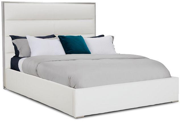 Cortina White Uph Platform Bed (3)