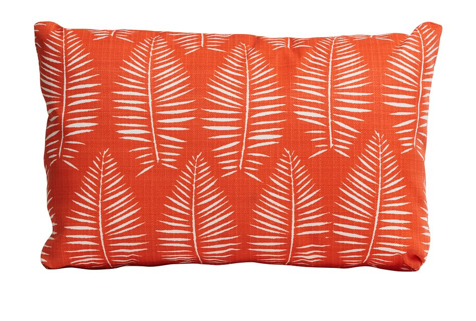 Breeze Orange Lumbar Indoor/outdoor Accent Pillow