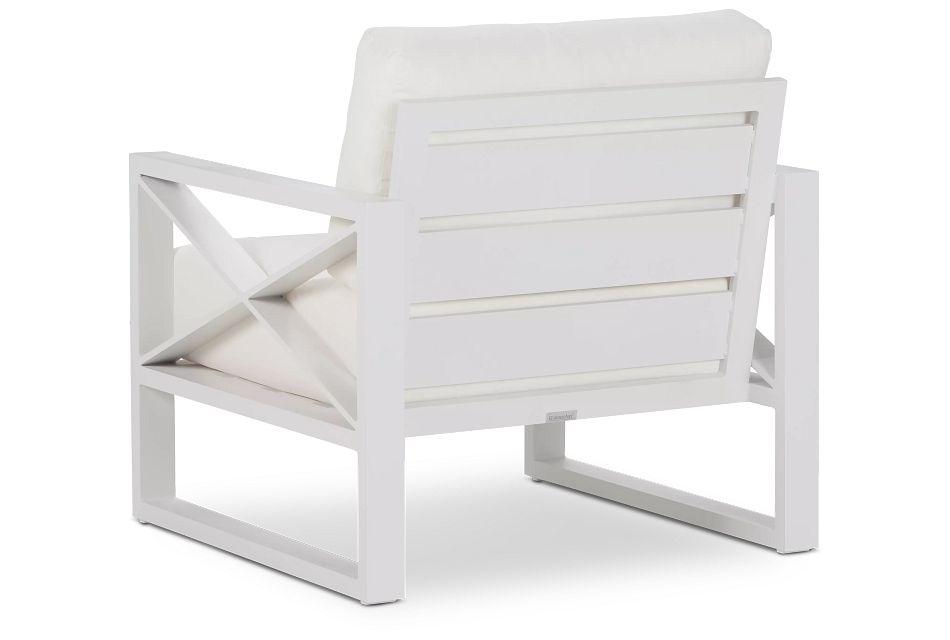 Linear White Aluminum Chair